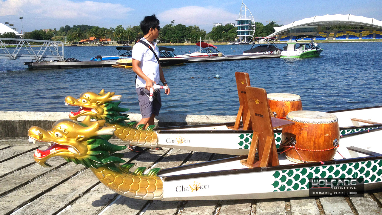 It's time to gear up for aerial video of dragonboat team building