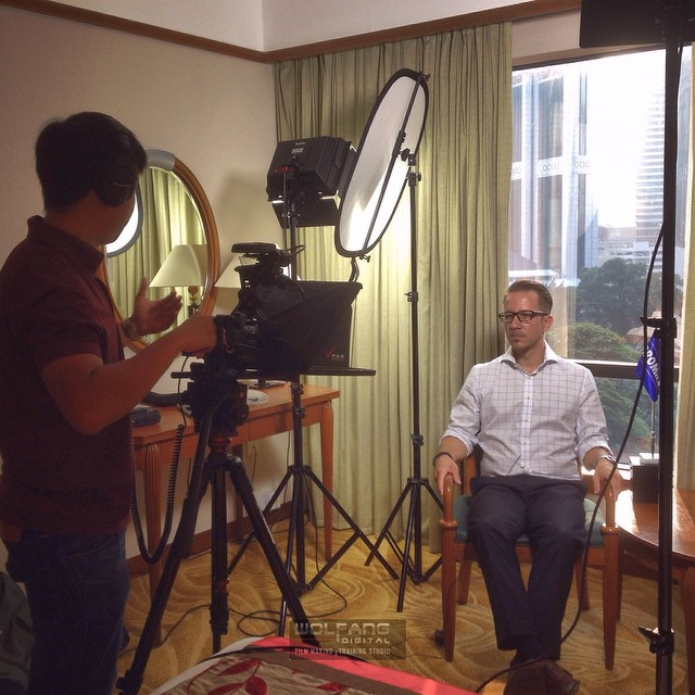 #Interview with the MD. With a #teleprompter in place he is more confident and we shoot this in less takes #filmmaking #filmlife #sonyax100 #4K #cinematography #OneTakeOnly #padprompter