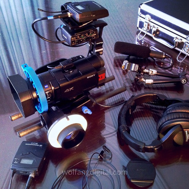 Prepping for #corporatevideo shoot in #sony4k with #sennheiser wireless audio system #sonyax100 #filmmaking #filmlife #spottherock #4k #cameraporn