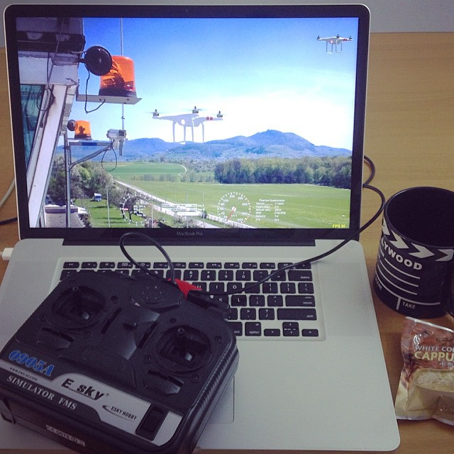 Getting ready for an #aerial shoot where #safety is a major concern. Nothing prepares a #drone pilot better than hours on a #simulator and #cappuccino #aerialvideo #dronevideo #knowbeforeyoufly #dronelife #flysafe
