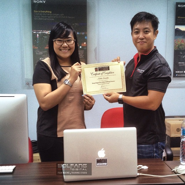 Congrats to Adelia Swastika our Sony Vegas trainee from consulting firm Deloitte Indonesia #sonyvegas #vegaspro #videoediting #videoeditor