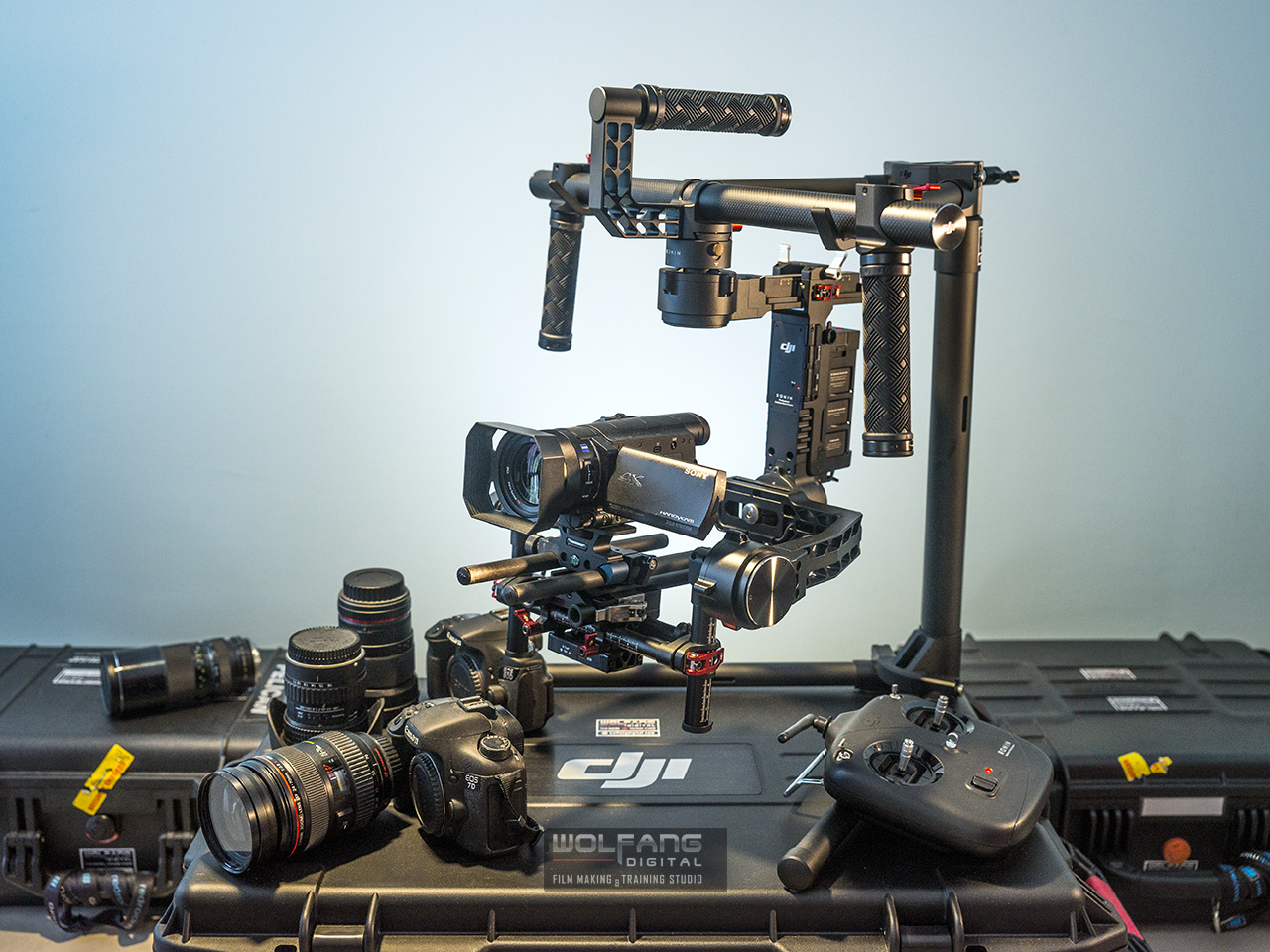 DJI ronin gimbal for rental with Certified Steadicam Operator