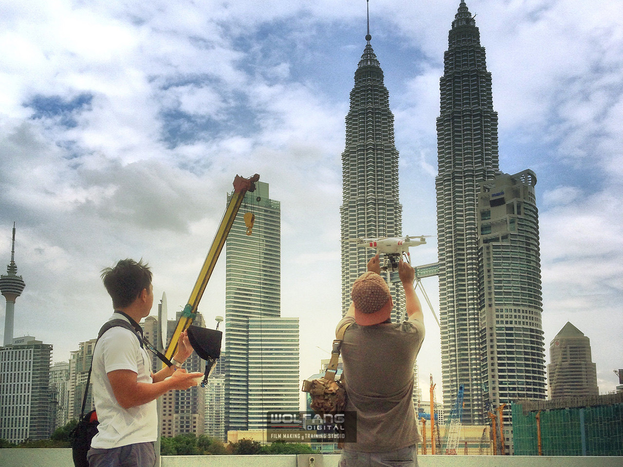 Aerial video of the Petronas Towers by WolFang Digital