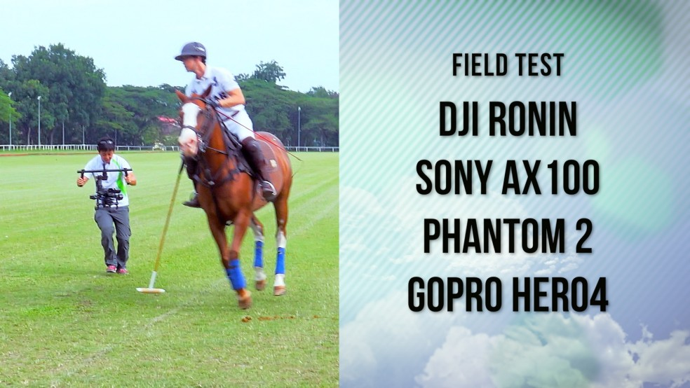 DJI Ronin with Aerial Video to film polo horse and rider
