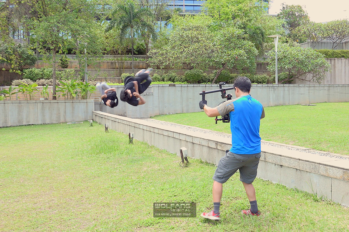 Sony RX100 IV on a DJI Ronin to film parkour
