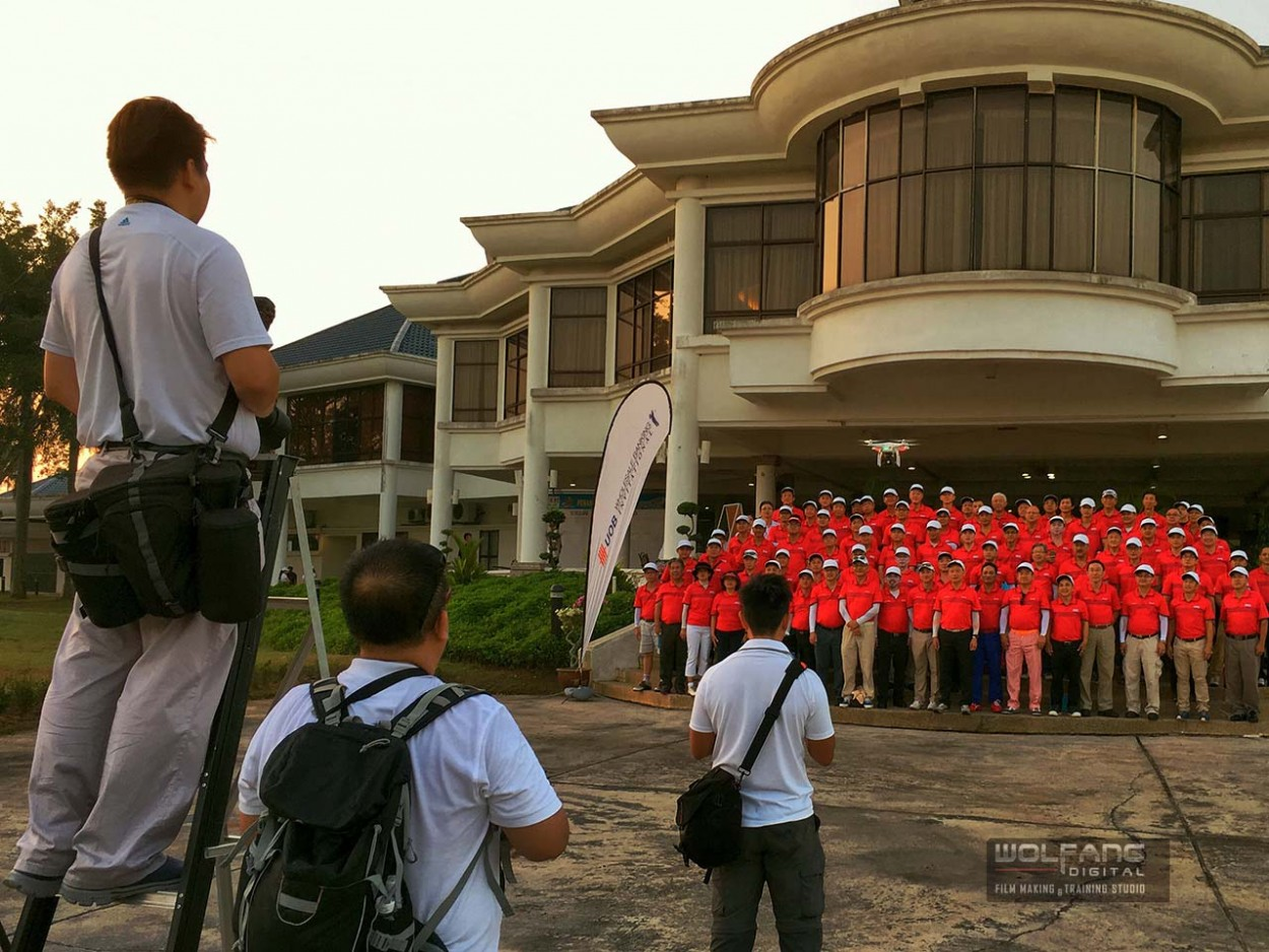 Aerial videography services for UOB Golf Tournament by WolFang Digtial