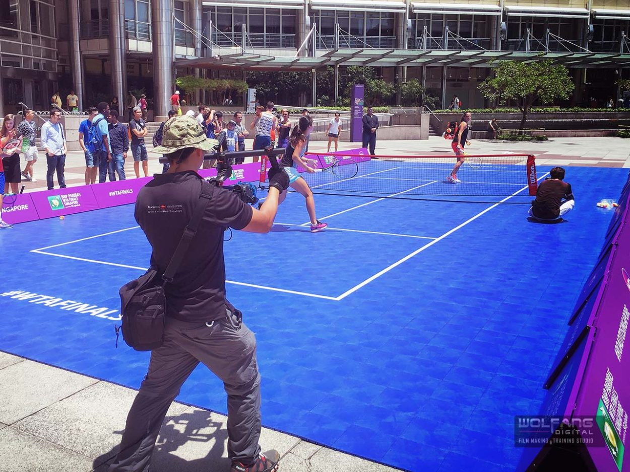 Gimbal services for WTA Future Stars tennis workshop