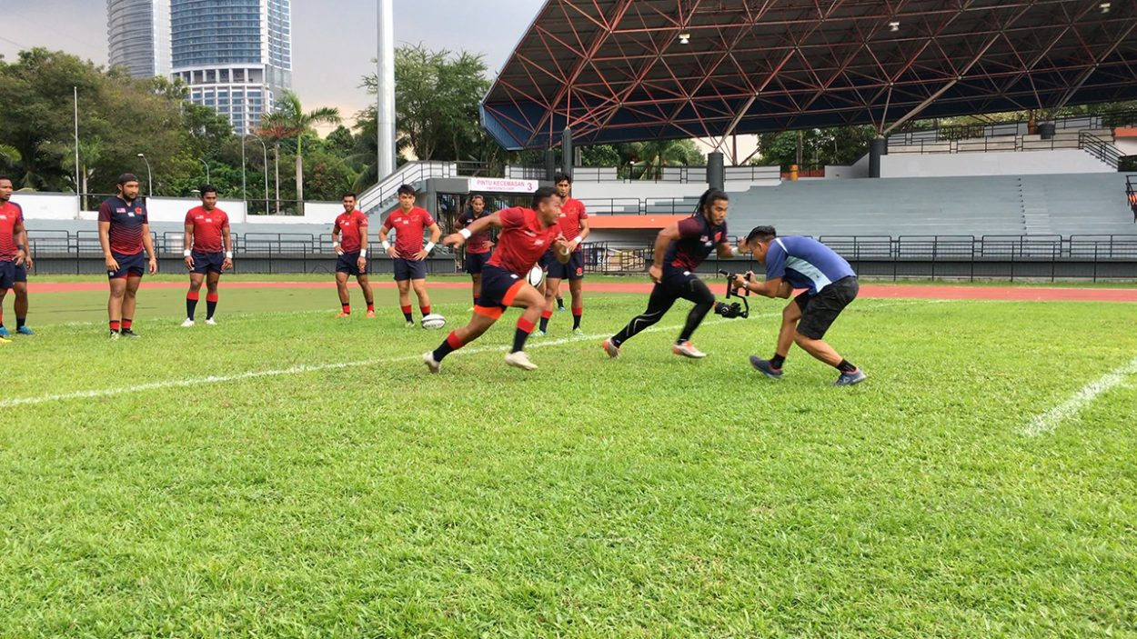 Baron Abas going head to head with Malaysia Rugby Sevens to get the shot
