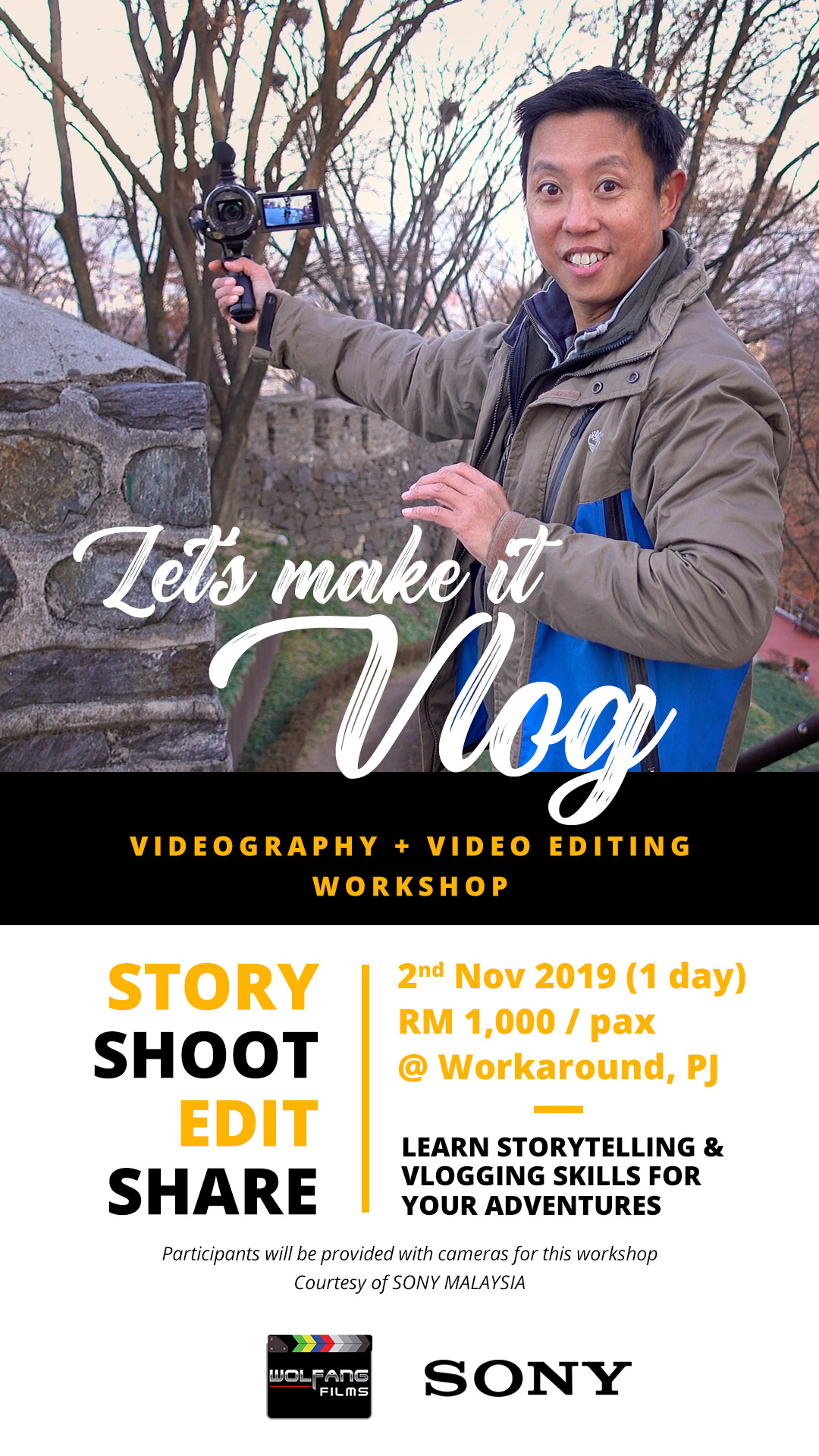 How to make YouTube videos, vlog, vlogging workshop by Baron Abas