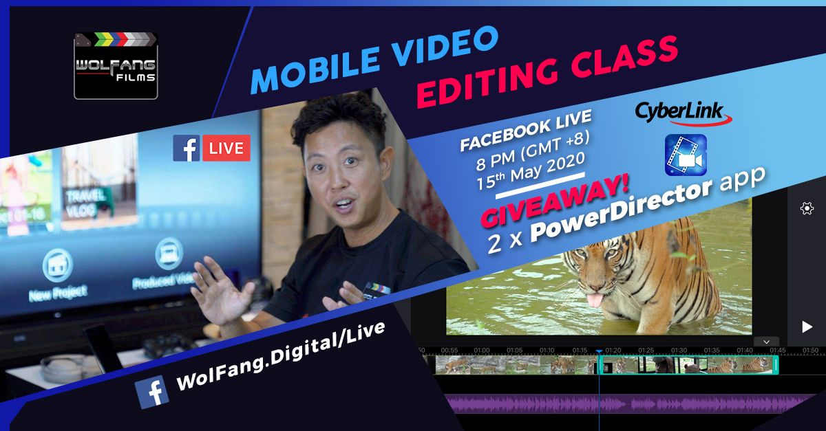 Mobile Video Editing on Facebook Live with Cyberlink PowerDirector by Baron Abas, WolFang Digital