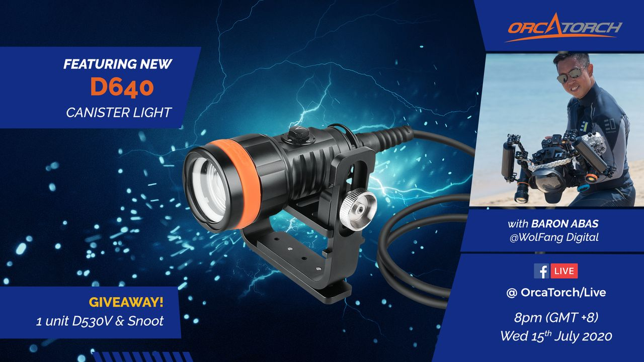 Unboxing OrcaTorch D640 Dive Torch with Baron Abas, WolFang Digital on Facebook Live