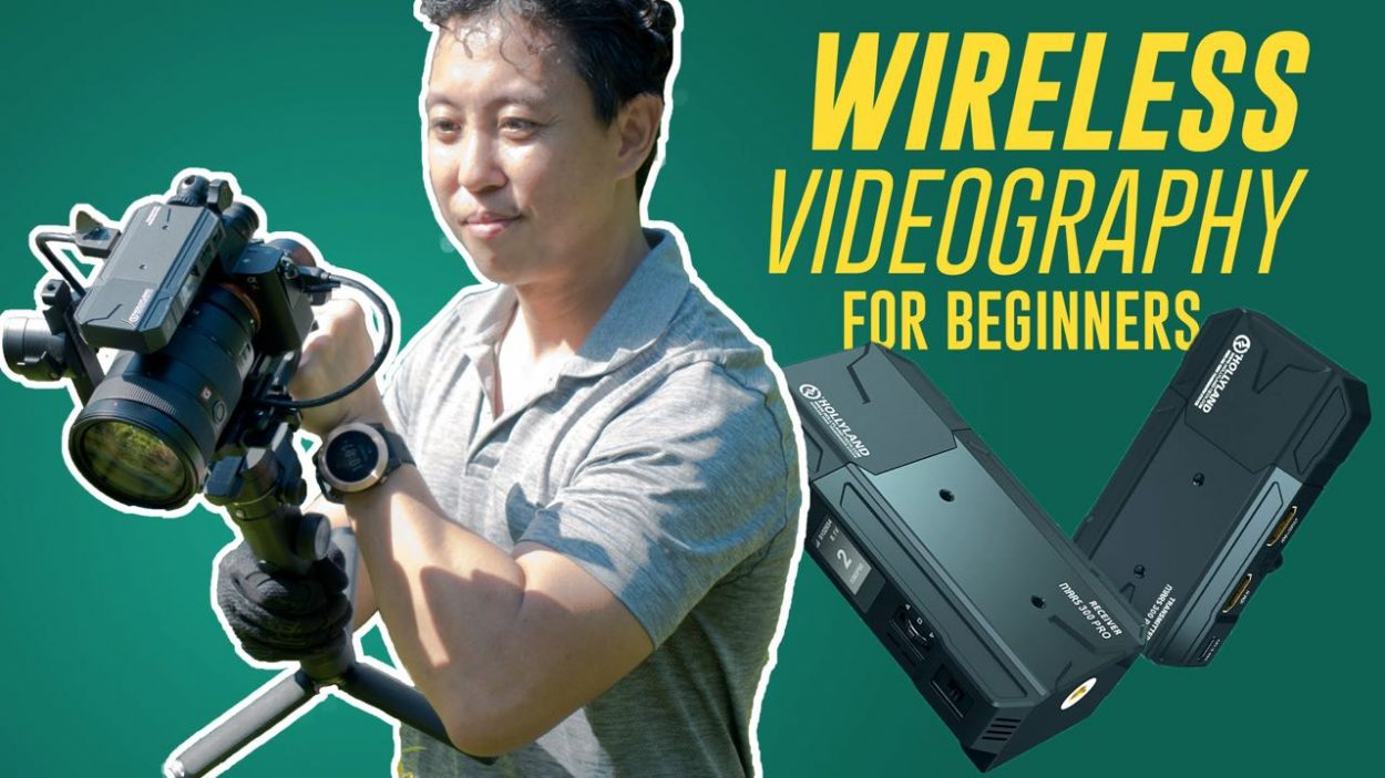 Wireless video system for videography tutorial by Baron Abas