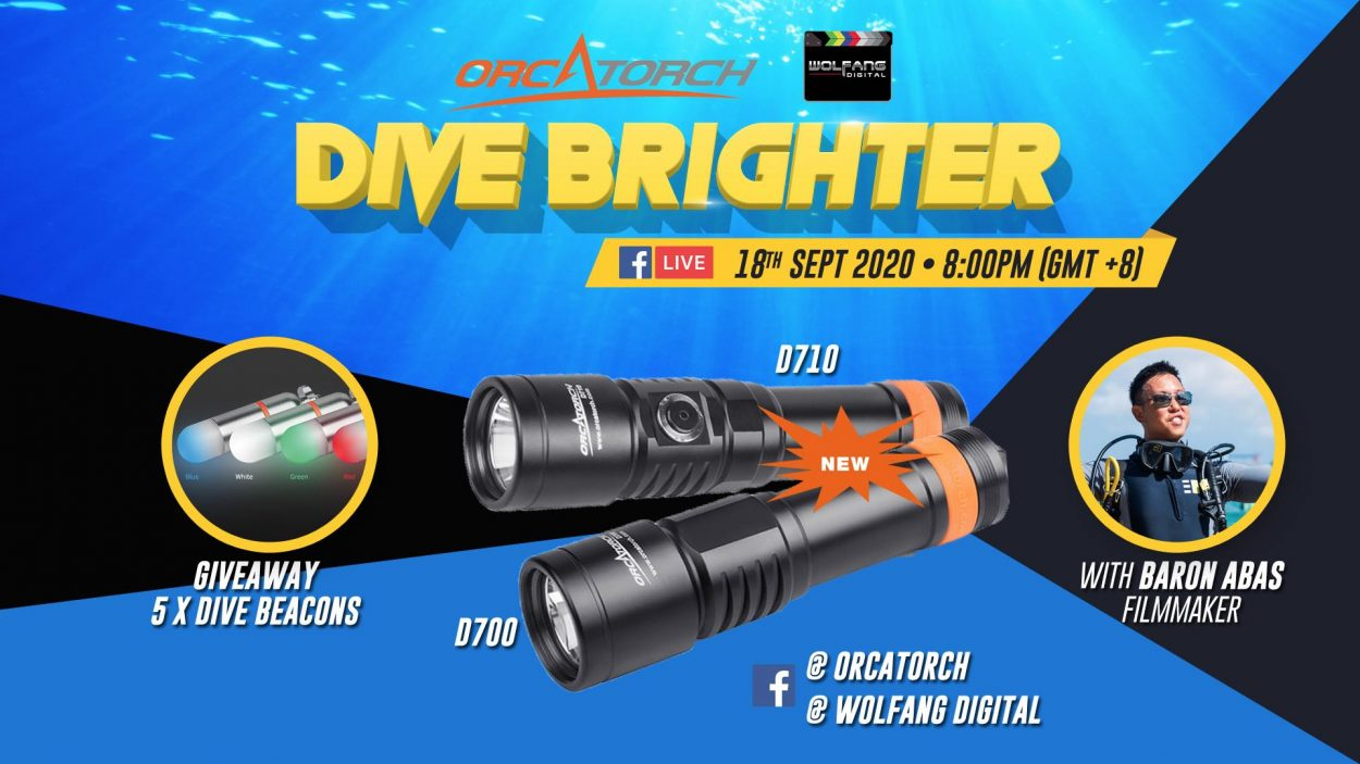Scuba diving torch review orcatorch d710