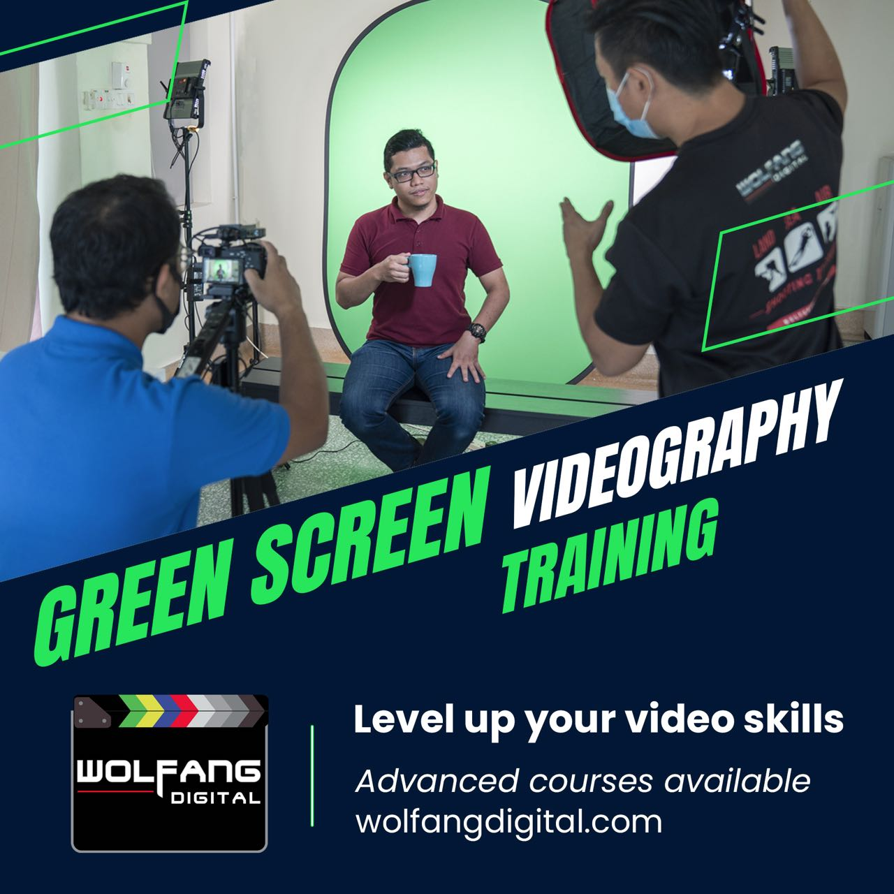 Training for Green Screen background replacement by WolFang Digital